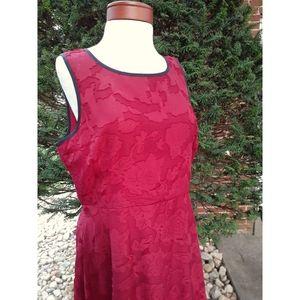 ModCloth Floral Crepe Fit & Flare Party Dress